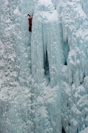 keynote speaker, ice climbing